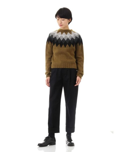 MARGARET HOWELL(マーガレット・ハウエル)/DIAMOND FAIRISLE JUMPER/5788263006_img02