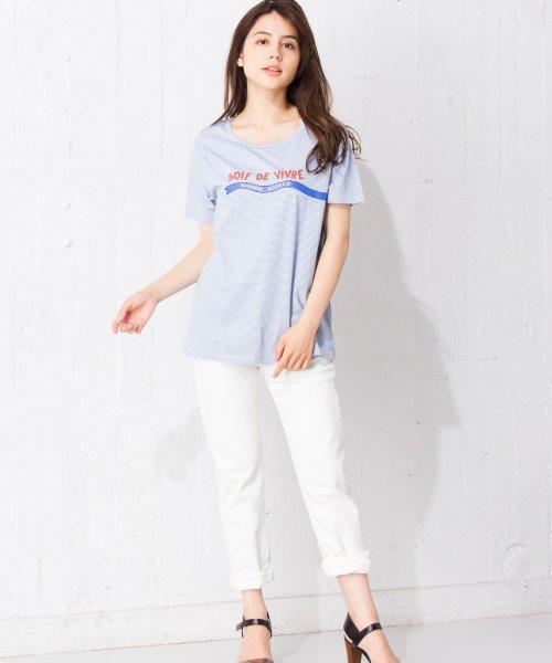 en recre(アン レクレ)/【SCOTCH & SODA】ボーダーロゴプリントTシャツ/6800124_img01