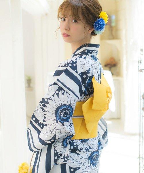 Dita(ディータ)/Dita【ディータ】1人で簡単に着られる作り帯の可愛い女性浴衣 4点フルセット(ゆかた・作り帯・下駄・着付けカタログ)/dl-2013yukata_img12