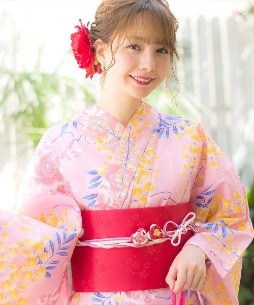 Dita(ディータ)/Dita【ディータ】1人で簡単に着られる作り帯の可愛い女性浴衣 4点フルセット(ゆかた・作り帯・下駄・着付けカタログ)/dl-2013yukata_img14