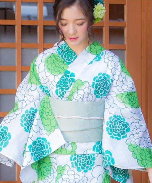 Dita(ディータ)/Dita【ディータ】1人で簡単に着られる作り帯の可愛い女性浴衣 4点フルセット(ゆかた・作り帯・下駄・着付けカタログ)/dl-2013yukata_img22
