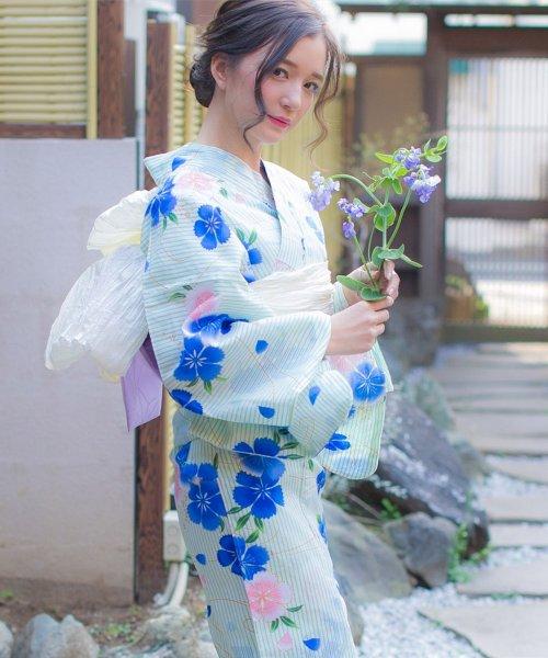 Dita(ディータ)/Dita【ディータ】1人で簡単に着られる作り帯の可愛い女性浴衣 4点フルセット(ゆかた・作り帯・下駄・着付けカタログ)/dl-2013yukata_img24