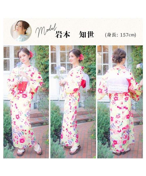 Dita(ディータ)/Dita【ディータ】1人で簡単に着られる作り帯の可愛い女性浴衣 4点フルセット(ゆかた・作り帯・下駄・着付けカタログ)/dl-2013yukata_img25