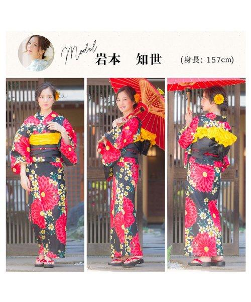 Dita(ディータ)/Dita【ディータ】1人で簡単に着られる作り帯の可愛い女性浴衣 4点フルセット(ゆかた・作り帯・下駄・着付けカタログ)/dl-2013yukata_img27