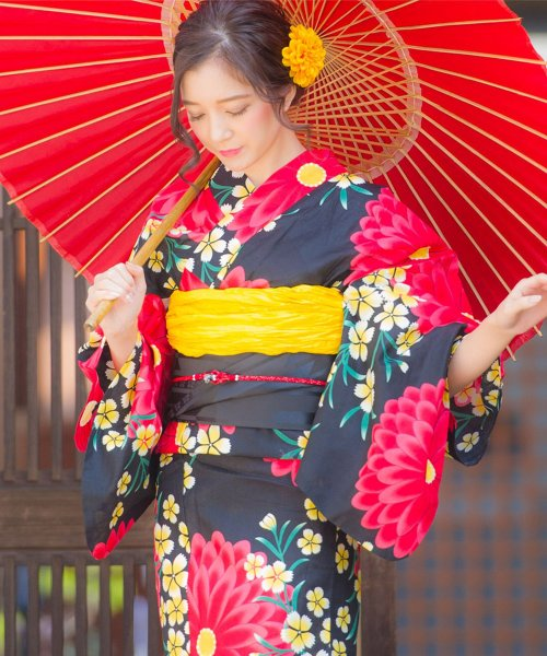 Dita(ディータ)/Dita【ディータ】1人で簡単に着られる作り帯の可愛い女性浴衣 4点フルセット(ゆかた・作り帯・下駄・着付けカタログ)/dl-2013yukata_img28