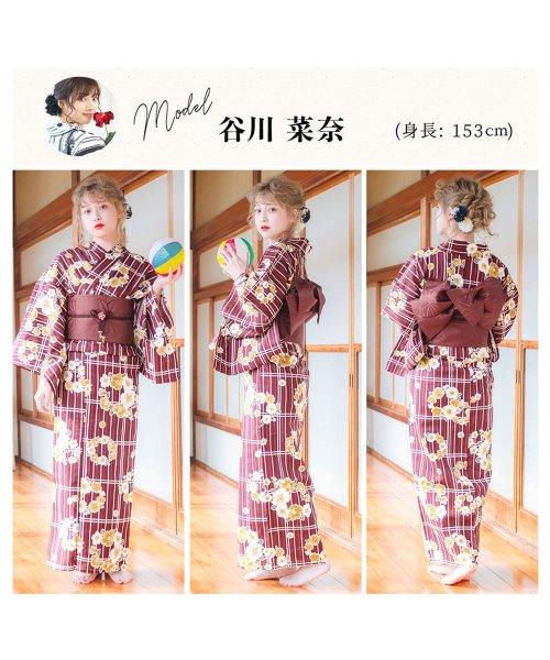 Dita(ディータ)/Dita【ディータ】1人で簡単に着られる作り帯の可愛い女性浴衣 4点フルセット(ゆかた・作り帯・下駄・着付けカタログ)/dl-2013yukata_img29