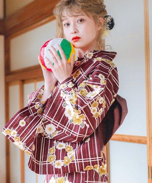 Dita(ディータ)/Dita【ディータ】1人で簡単に着られる作り帯の可愛い女性浴衣 4点フルセット(ゆかた・作り帯・下駄・着付けカタログ)/dl-2013yukata_img30