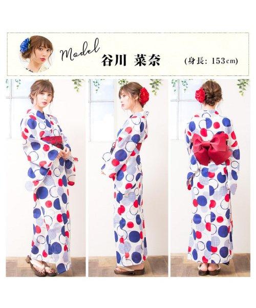 Dita(ディータ)/Dita【ディータ】1人で簡単に着られる作り帯の可愛い女性浴衣 4点フルセット(ゆかた・作り帯・下駄・着付けカタログ)/dl-2017yukata3retro1_img01