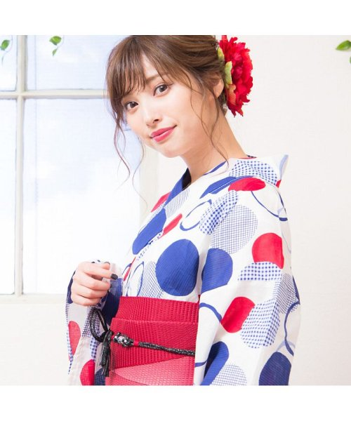 Dita(ディータ)/Dita【ディータ】1人で簡単に着られる作り帯の可愛い女性浴衣 4点フルセット(ゆかた・作り帯・下駄・着付けカタログ)/dl-2017yukata3retro1_img02