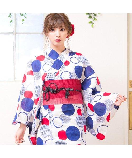 Dita(ディータ)/Dita【ディータ】1人で簡単に着られる作り帯の可愛い女性浴衣 4点フルセット(ゆかた・作り帯・下駄・着付けカタログ)/dl-2017yukata3retro1_img03