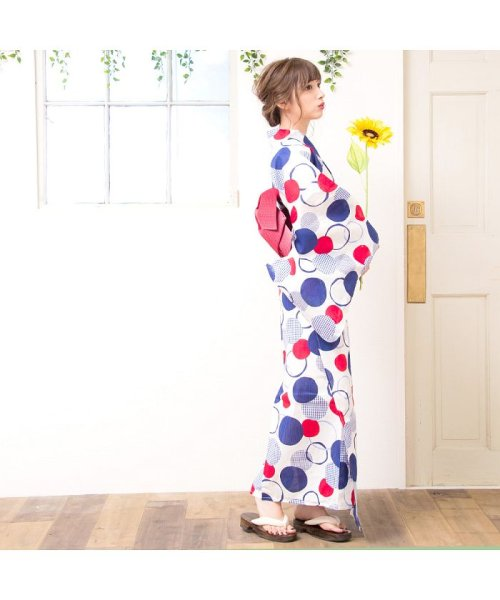 Dita(ディータ)/Dita【ディータ】1人で簡単に着られる作り帯の可愛い女性浴衣 4点フルセット(ゆかた・作り帯・下駄・着付けカタログ)/dl-2017yukata3retro1_img04