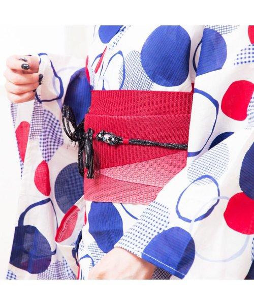 Dita(ディータ)/Dita【ディータ】1人で簡単に着られる作り帯の可愛い女性浴衣 4点フルセット(ゆかた・作り帯・下駄・着付けカタログ)/dl-2017yukata3retro1_img05