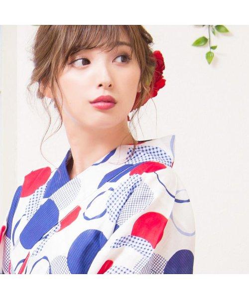 Dita(ディータ)/Dita【ディータ】1人で簡単に着られる作り帯の可愛い女性浴衣 4点フルセット(ゆかた・作り帯・下駄・着付けカタログ)/dl-2017yukata3retro1_img06