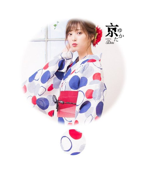 Dita(ディータ)/Dita【ディータ】1人で簡単に着られる作り帯の可愛い女性浴衣 4点フルセット(ゆかた・作り帯・下駄・着付けカタログ)/dl-2017yukata3retro1_img09