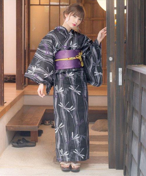 Dita(ディータ)/Dita【ディータ】1人で簡単に着られる作り帯の可愛い女性浴衣 4点フルセット(ゆかた・作り帯・下駄・着付けカタログ)/dl-2013yukata_img07
