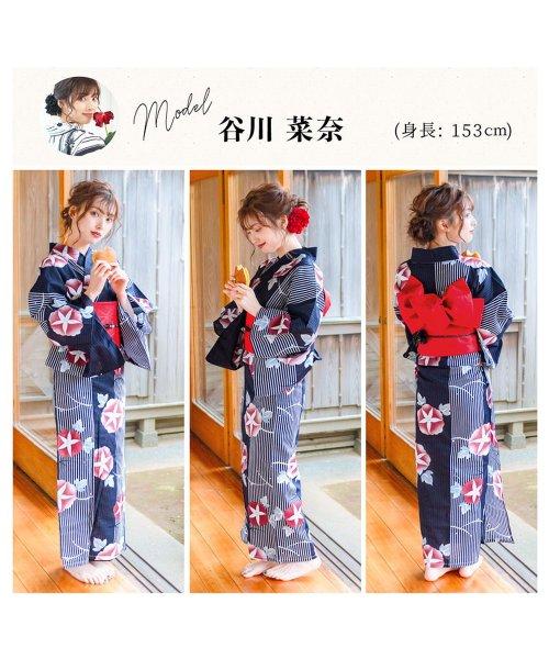 Dita(ディータ)/Dita【ディータ】1人で簡単に着られる作り帯の可愛い女性浴衣 4点フルセット(ゆかた・作り帯・下駄・着付けカタログ)/dl-2013yukata_img31