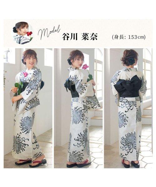 Dita(ディータ)/Dita【ディータ】1人で簡単に着られる作り帯の可愛い女性浴衣 4点フルセット(ゆかた・作り帯・下駄・着付けカタログ)/dl-2018kimuky1_img06
