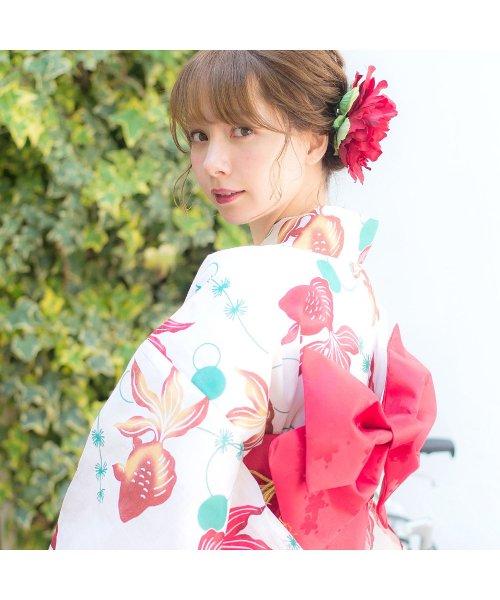 Dita(ディータ)/Dita【ディータ】1人で簡単に着られる作り帯の可愛い女性浴衣 4点フルセット(ゆかた・作り帯・下駄・着付けカタログ)/dl-2018kimuky1_img23