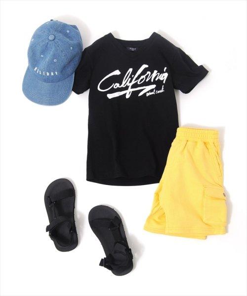 GLAZOS(グラソス)/接触冷感Californiaプリント半袖Tシャツ/g8208201_img01