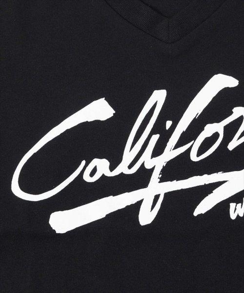 GLAZOS(グラソス)/接触冷感Californiaプリント半袖Tシャツ/g8208201_img03