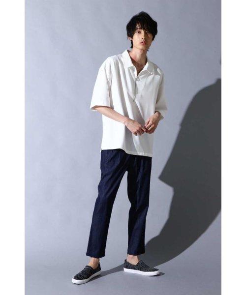 TORNADO MART(トルネードマート)/BLUE TORNADO∴トロワッシャーハーフジップシャツ/6318274801_img03
