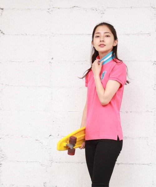 GIORDANOL(ジョルダーノ(レディース))/【ライクラ素材使用】3Dライオン刺繍ポロシャツ/GD18SS05318202_img38