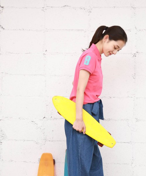 GIORDANOL(ジョルダーノ(レディース))/【ライクラ素材使用】3Dライオン刺繍ポロシャツ/GD18SS05318202_img39
