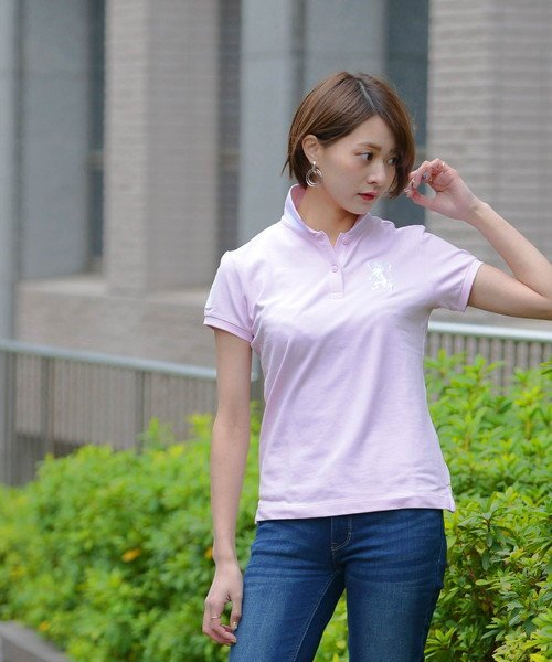 GIORDANOL(ジョルダーノ(レディース))/【ライクラ素材使用】3Dライオン刺繍ポロシャツ/GD18SS05318202_img40