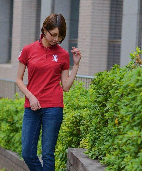 GIORDANOL(ジョルダーノ(レディース))/【ライクラ素材使用】3Dライオン刺繍ポロシャツ/GD18SS05318202_img42