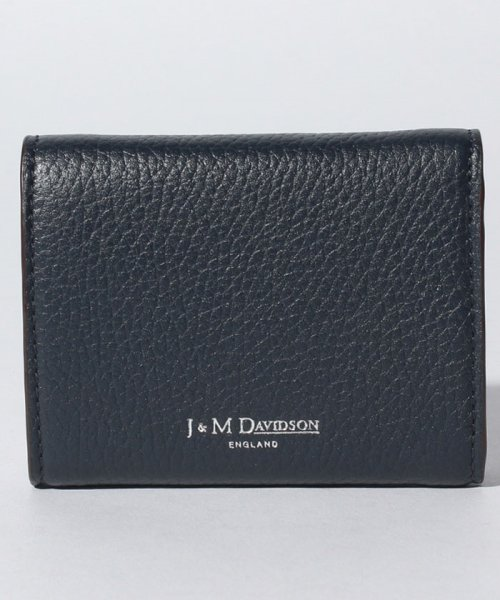 J&M DAVIDSON(ジェイアンドエムデヴィッドソン)/【J&M DAVIDSON】三つ折り ミニ財布 / SMALL FOLDED WALLET W/STUDS 【NEW NAVY】/10163N72663850_img02