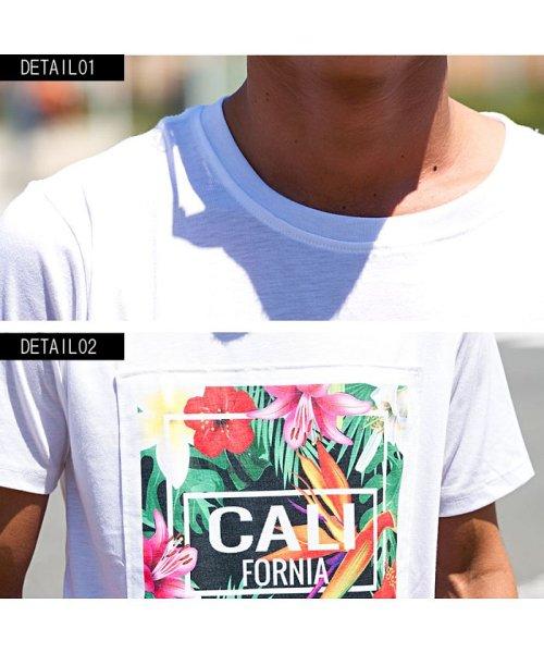 CavariA(キャバリア)/CavariA【キャバリア】別布フラワーボックスプリントクルーネック半袖Tシャツ/CAK18-15_img07