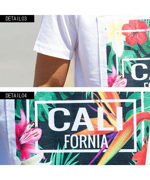 CavariA(キャバリア)/CavariA【キャバリア】別布フラワーボックスプリントクルーネック半袖Tシャツ/CAK18-15_img08