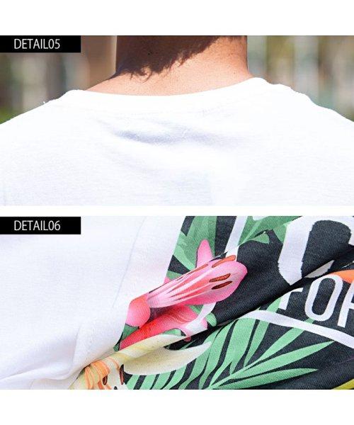 CavariA(キャバリア)/CavariA【キャバリア】別布フラワーボックスプリントクルーネック半袖Tシャツ/CAK18-15_img09