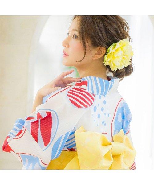 Dita(ディータ)/Dita【ディータ】1人で簡単に着られる作り帯の可愛い女性浴衣 4点フルセット(ゆかた・作り帯・下駄・着付けカタログ)/dl-2018kimurip58_img11