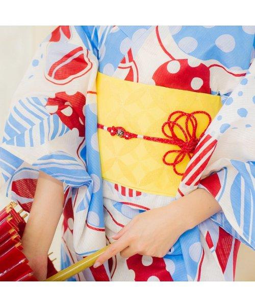 Dita(ディータ)/Dita【ディータ】1人で簡単に着られる作り帯の可愛い女性浴衣 4点フルセット(ゆかた・作り帯・下駄・着付けカタログ)/dl-2018kimurip58_img12