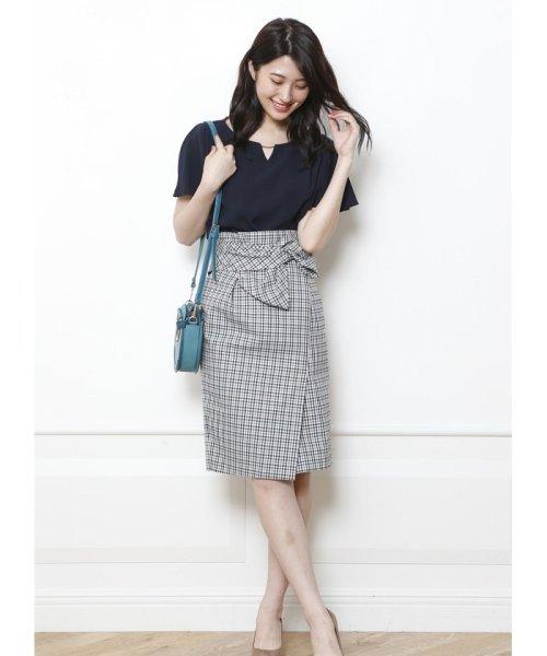 JUSGLITTY(ジャスグリッティー)/リボン付チェックタイトスカート/48338240_img02