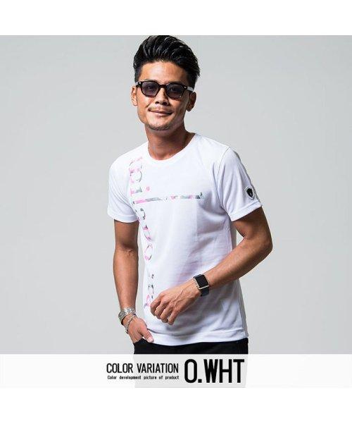 VIOLA(ヴィオラ)/VIOLA【ヴィオラ】プリント入りクルーネック半袖Tシャツ/A81343_img01