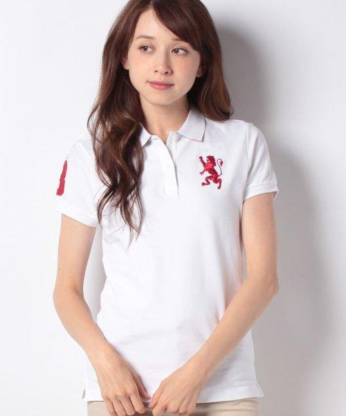 GIORDANOL(ジョルダーノ(レディース))/【ライクラ素材使用】3Dライオン刺繍ポロシャツ/GD18SS05318202_img60