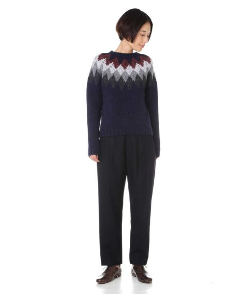 MARGARET HOWELL(マーガレット・ハウエル)/DIAMOND FAIRISLE JUMPER/5788263006_img06