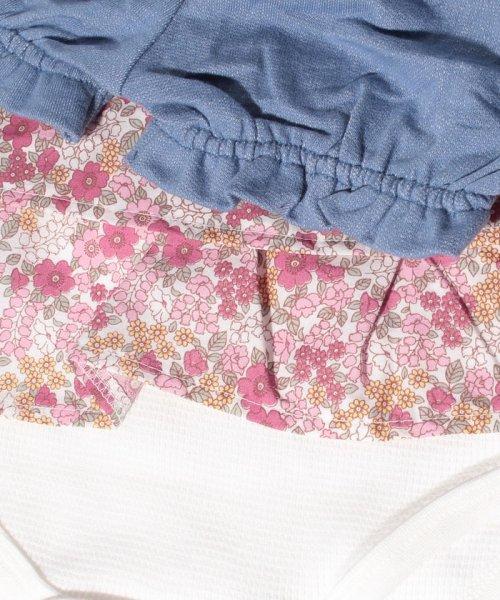 petit main(プティマイン)/ブルマつきワッフル花柄フリルロンパース/9683502_img09