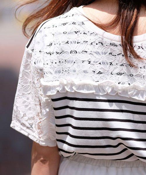 ANDJ(ANDJ(アンドジェイ))/2WAYフリルレース切替半袖Tシャツ/tt76x03930_img12