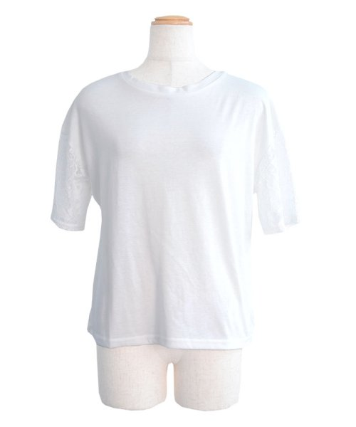 ANDJ(ANDJ(アンドジェイ))/2WAYフリルレース切替半袖Tシャツ/tt76x03930_img14