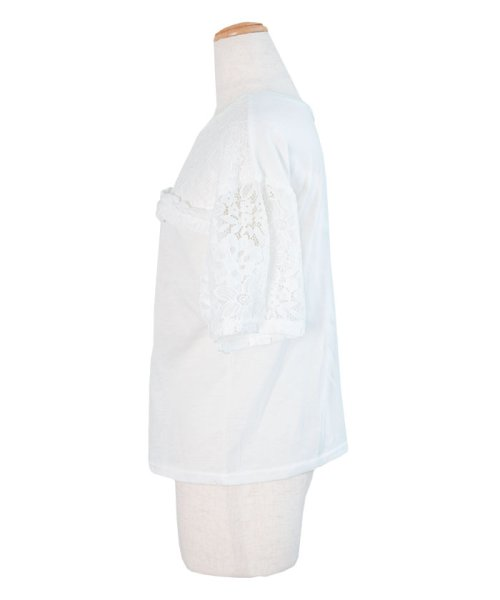ANDJ(ANDJ(アンドジェイ))/2WAYフリルレース切替半袖Tシャツ/tt76x03930_img15