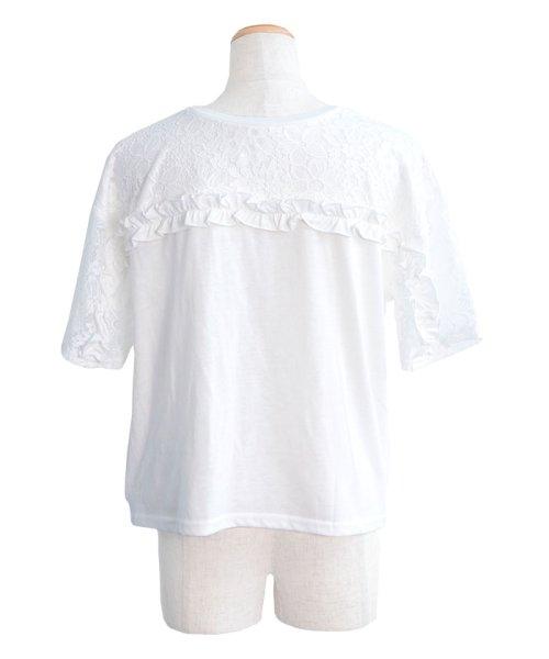 ANDJ(ANDJ(アンドジェイ))/2WAYフリルレース切替半袖Tシャツ/tt76x03930_img16