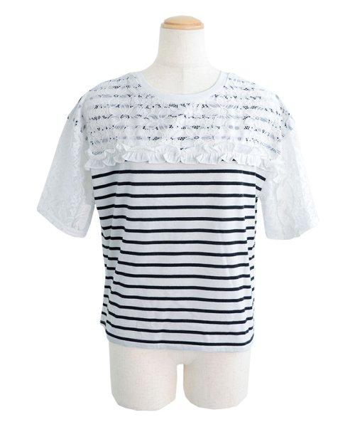 ANDJ(ANDJ(アンドジェイ))/2WAYフリルレース切替半袖Tシャツ/tt76x03930_img19