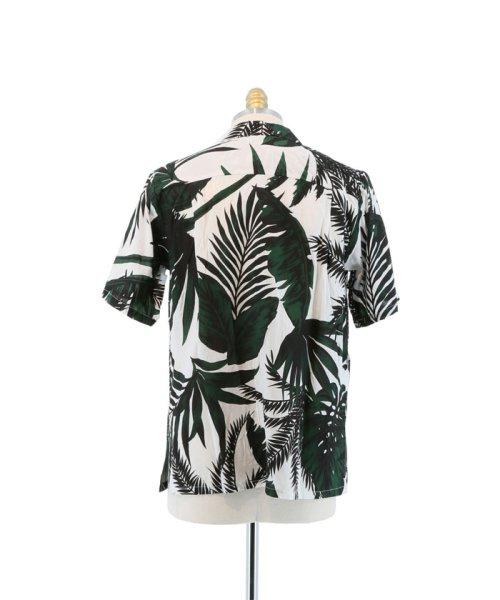 semanticdesign(セマンティックデザイン)/ヤシ柄プリントオープンカラー半袖シャツ/110131503800837_img02