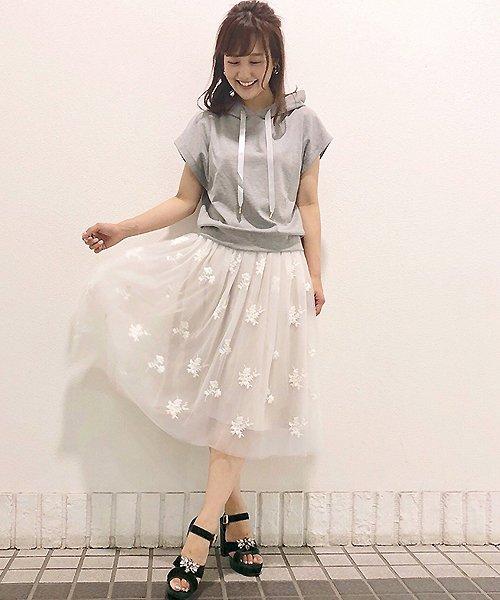 31 Sons de mode(トランテアン ソン ドゥ モード)/チュール刺繍スカート/0038305_img02