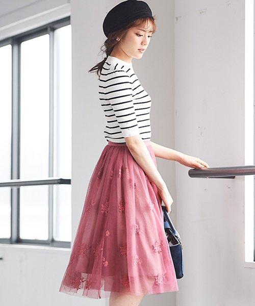 31 Sons de mode(トランテアン ソン ドゥ モード)/チュール刺繍スカート/0038305_img09