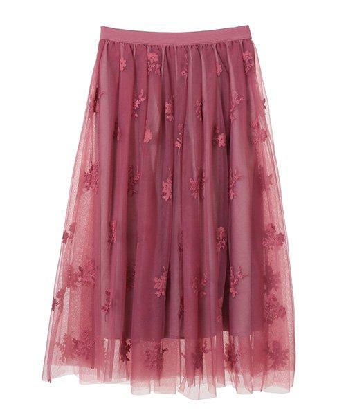 31 Sons de mode(トランテアン ソン ドゥ モード)/チュール刺繍スカート/0038305_img10