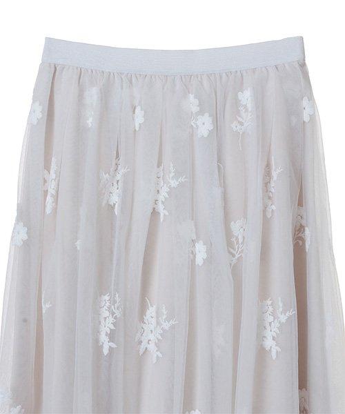 31 Sons de mode(トランテアン ソン ドゥ モード)/チュール刺繍スカート/0038305_img12
